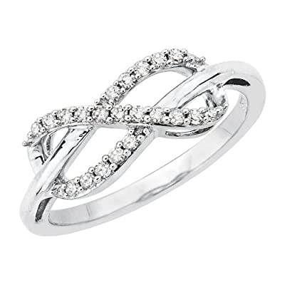Infinity Diamond Ring in Sterling Silver (1/5 cttw) by Katarina