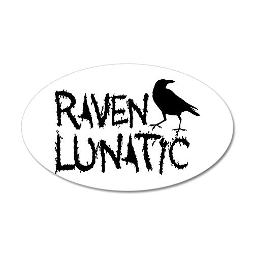 CafePress Raven Lunatic Halloween Wall Decal 20x12 Oval Wall Decal, Vinyl Wall Peel, Reusable Wall Cling -