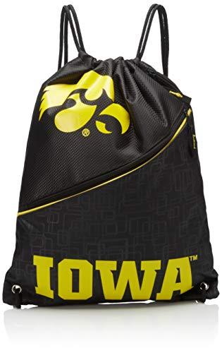 (Iowa High End Diagonal Zipper Drawstring Backpack)