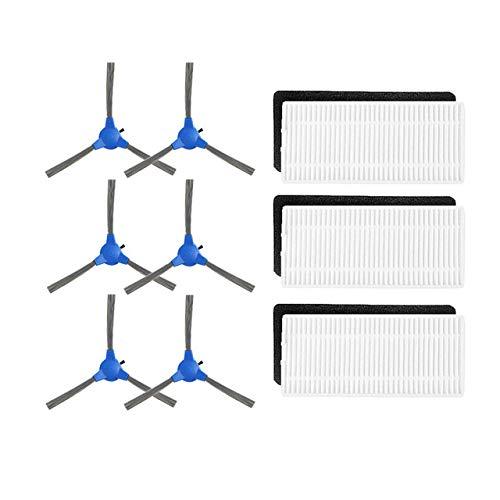 YTT 6 * Cepillo Lateral + 6 * HEPA Filtro aspiradora robótica para ...
