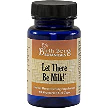 Birth Song Botanicals Let There Be Milk Best Vegetarian Lactation Supplement, Liquid Capsules, 60 Count