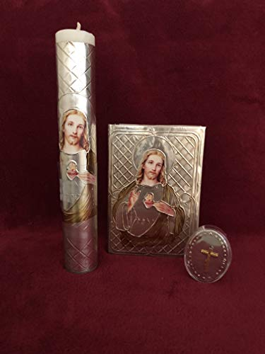 (First Holy Communion Laminated Sacred Heart/Gold - Estuche Para Primera Comunión)