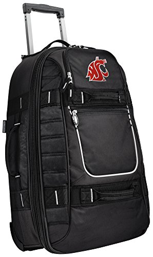 Small Washington State University Carry-On Bag Wheeled Suitcase Luggage Bags by Broad Bay