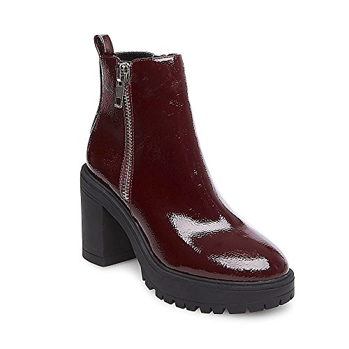 Burgundy Patent Footwear (Steve Madden Women's Turbo Burgundy Patent 470 8.5 US)