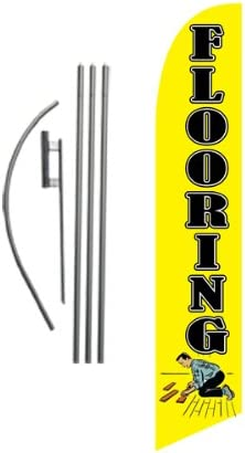 Flooring Marble /& Granite Now Open King Swooper Feather Flag Sign Kit with Pole and Ground Spike Pack of 3