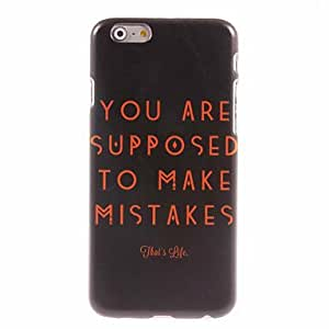 QHY Supposed To Make Mistake Design Hard Case for iPhone 6 Plus
