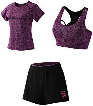 レディースジャージ上下セット レディースセクシータンクトップパンツ衣装3ピースジャンプスーツSweatsuit (Color : Purple, Size : XL)