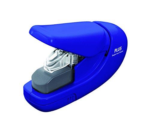plus-paper-clinch-stapleless-stapler-blue