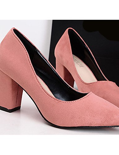uk6 4 Tacones eu39 mujer Robusto Tac¨®n us8 uk2 Rojo ZQ Zapatos 5 eu34 Rosa Casual gray cn39 us4 eu39 Negro gray Vell¨®n 5 de 2 uk6 red Tacones cn33 cn39 Gris us8 aX4awx