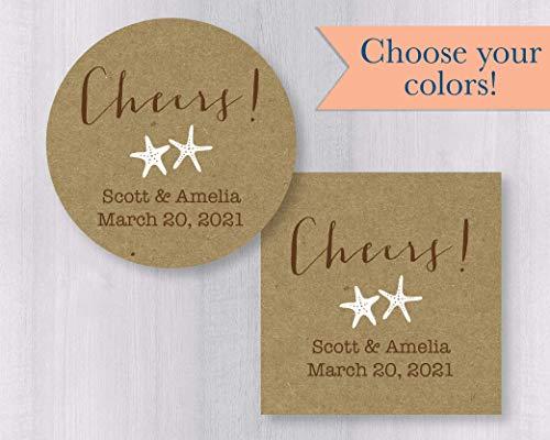 - Cheers Starfish Kraft Stickers (#048-2-KR)