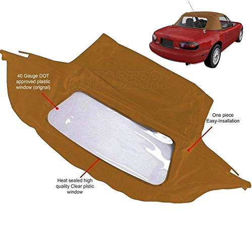 Mazda Miata Convertible Top with Plastic Window Tan Cabrio ()