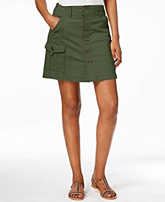 Jag Jeans Womens Boardwalk Button Front Skirt in Bay Twill
