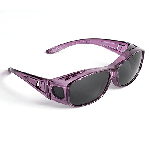 Over Glasses Sunglasses - Polarized Fitover Sunglasses with 100% UV Protection - Style 1 By Pointed Designs (Purple) by Pointed Designs