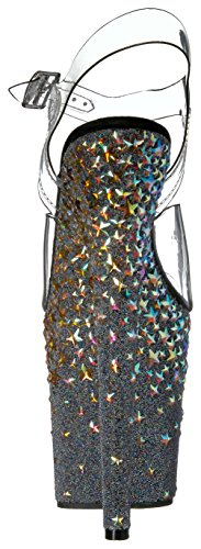 Comprar Barato Footlocker Finishline Venta caliente en línea Stplash808 / C / B Sandalia De La Plataforma Clr / Negro / Slv Estrellas Holograma De La Mujer Pleaser NPvEIP
