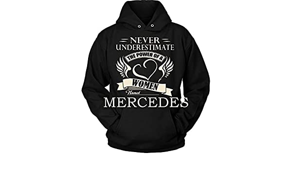 Never Underestimate The Power of Angelika Hoodie Black