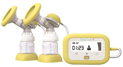 Bundle Tumble Premium Advanced Double Electric Breast Pump with Independent Dual Control - Natural Breastfeeding with 9-Grade Adjustment - BPA-Free (Sump Pump Freezing compare prices)