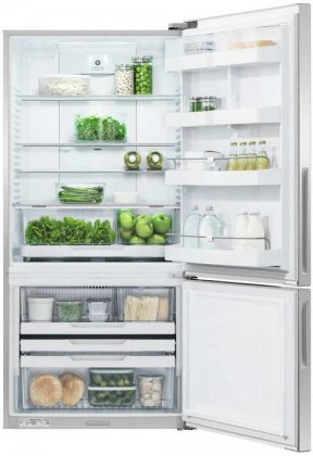 Fisher Paykel RF170BRPX6 Bottom Mount Counter Depth Refrigerator with 17.6 Cu. Ft. Total Capacity Right Hinged Door Door Storage and Pocket Handle in Stainless