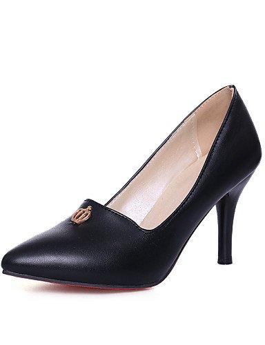 GGX/ Damenschuhe-High Heels-Büro / Lässig-PU-Stöckelabsatz-Absätze / Spitzschuh-Schwarz / Blau / Rosa / Weiß black-us9 / eu40 / uk7 / cn41