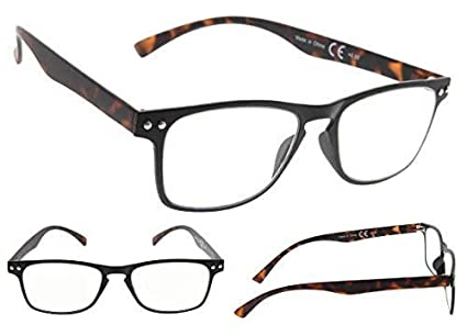 5-pack 80s Reading Glasses with Ultrathin Flex Frame Include Sunshine Readers
