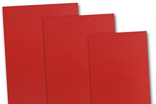 Blank Metallic Jupiter Red 5x7 Flat Card Invitations - 10...