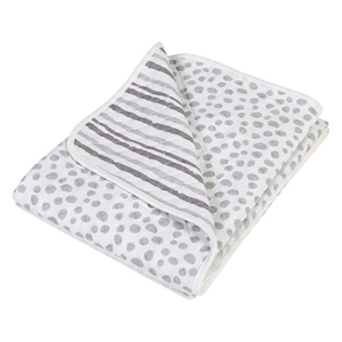 Trend Lab Gray Cloud Knit Blanket, Gray - Trend Lab Cotton