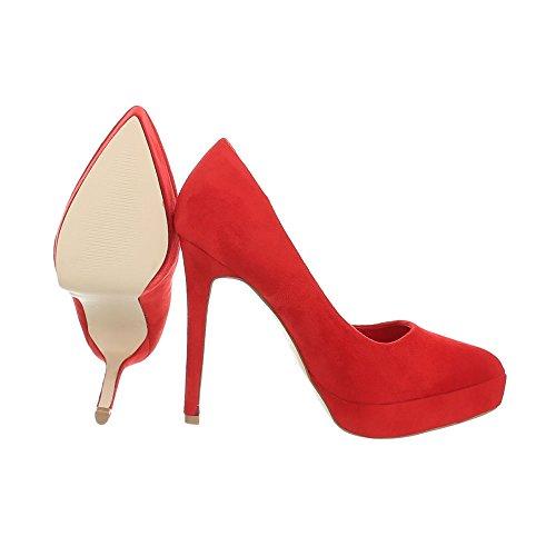 Ital 5015 design A Spillo Tacco Donna Scarpe 75 Alto Da Col Con Rosso PPa1r