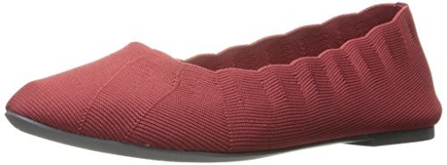 Skechers Women's Cleo Bewitch Ballet Flat,Red,6 M US