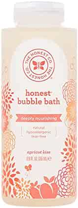 Honest Deeply Nourishing Hypoallergenic Bubble Bath With Naturally Derived Botanicals, Apricot Kiss, 12 Fluid Ounce