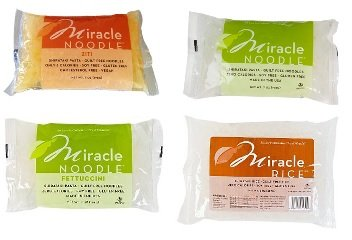 Miracle Noodle 4 Flavor Sampler Pack with Ziti [12 Pack] by Miracle Noodle