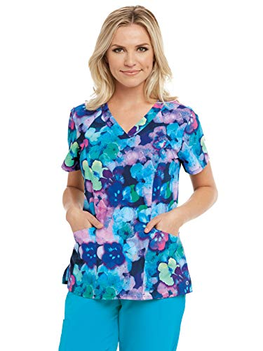 - Barco One 5107 Print V-Neck Top Peony Paradise S
