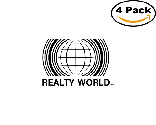 Realty World 1 4 Stickers 4X4 inches Car Bumper Window Sticker Decal