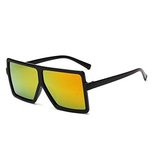 Sapo gafas brillante Aoligei Europeos B Color sol dama de gafas de americanos hombre retro y de gafas tendencia sol fTIrqvwTx