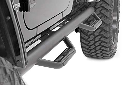 Rough Country 90764 - Wheel to Wheel Nerf Steps 4DR (fits) 2007-2018 Jeep Wrangler 4DR JK