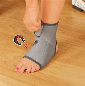 NEOPRENE MAGNETIC ANKLE SUPPORT BRACE WITH 10 SEWN IN THERAPEUTIC MAGNETS
