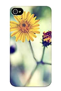 Top Quality Case Cover For Iphone 4/4s Case With Nice Yellow Spring Daisy Appearance
