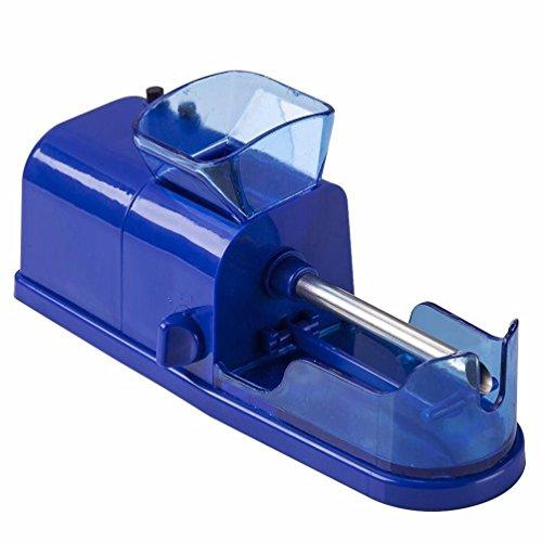 Fineser Cigarette Rolling Machine , Mini Electronic Cigarette Injector Maker, Automatic Electric Cigarette Tobacco Rolling Machine (Blue) by Fineser