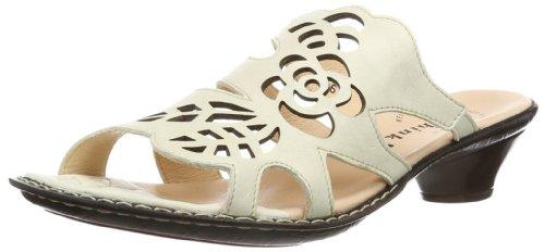Think Soso - Zapatos destalonados de cuero mujer marfil - Elfenbein (shell 28)