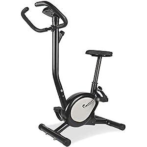 41f0W Maniglie regolabili, mobilia interna aerobico cyclette cyclette, la resistenza regolabile aerobico allenatore cyclette,Black