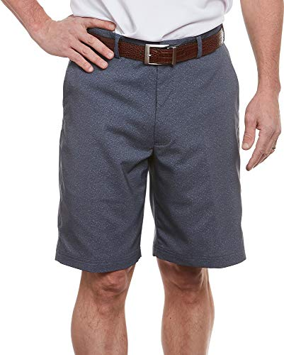 (Pebble Beach Mens Speckled Shorts 40W Heather Blue)