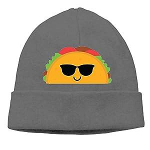 Rongyingst Taco Emoji Cool Sunglasses Beanie Wool Hats Knit Skull Caps Warm Winter Beanies for Men Women DeepHeather