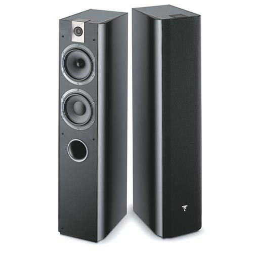 Lacquer Floor - Focal Chorus 716 2.5-Way Bass Reflex Floor Standing Speakers, Black Piano Lacquer, Pair