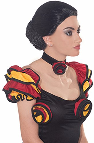 Forum Novelties Women's Spanish Dancer Wig, Black, One Size ()