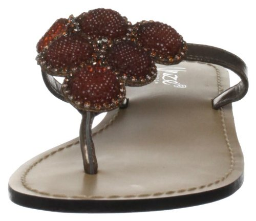 Unze Evening Slippers L18824W - Sandalias de cuero para mujer Marrón
