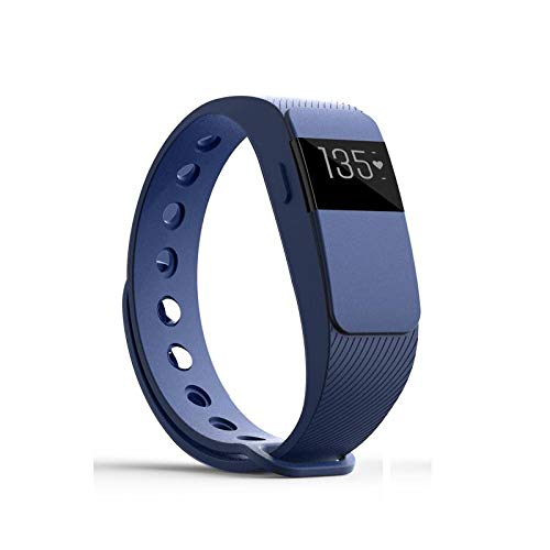 ID111 Bluetooth 4.0 Smartband Heart Rate Monitor Health Sleep Fitness Watch Sports Bracelet for iPhone Android Phones Blue