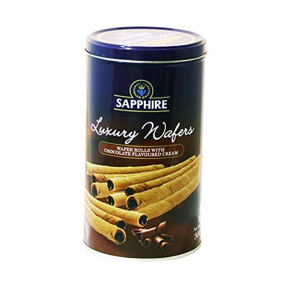 Sapphire Luxury Wafer Rolls Chocolate, 300 g