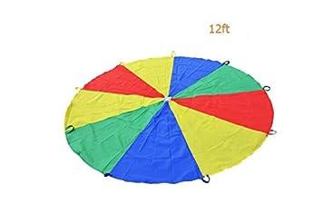 Ocamo Paraguas de Paracaídas de Jardín de Infantes, Arco Iris, para 8 12 Niños