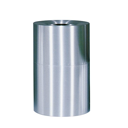 Rubbermaid Commercial Products Atrium Aluminum Refuse Container with Open Top (62-Gallon) (Atrium Waste Container)
