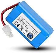 LAJS Batería de vacío, batería ABS, sin efecto memoria, voltaje 14,8 V para Ilife A4 A4S A6 V7 Robot Aspirador