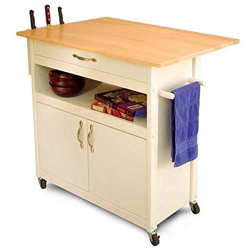 Kitchen Catskill Craftsmen Drop Leaf Utility Cart modern kitchen islands and carts