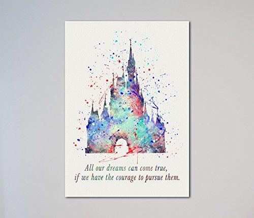 Cinderella Castle Quote Print